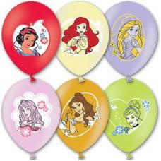 Шар с рисунком 14' Disney Принцессы 3цв