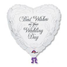 Свадебные пожелания Best Wishes, сердце