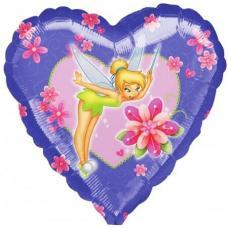 Фея с цветами, сердце