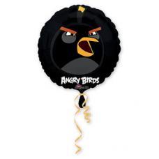 Angry Birds Черный, круглый