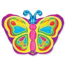Бабочка яркая