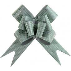 Бант-бабочка №3 'Блестящая полоска', цвет зелёный