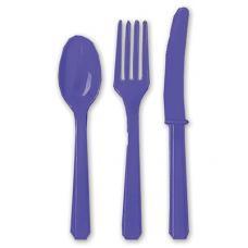 Столовые приборы пласт Purple 24шт/A
