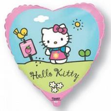 Hello-Kitty в саду, сердце