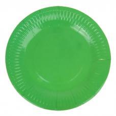 Набор тарелок, 6 шт, 18 см, бумага, зеленый