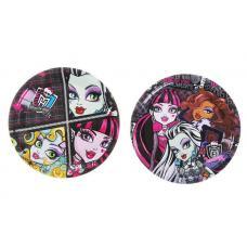 "Тарелки ""Monster High"", 10 шт, 18 см, МИКС, бумага"
