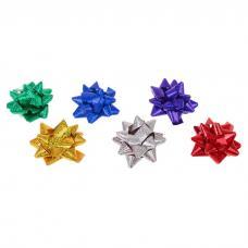 Бант-звезда №7 голография, цвета ассорти