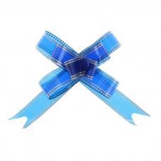 Бант-бабочка №1,8 'Серебро', цвет синий
