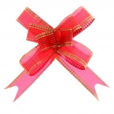Бант-бабочка №1,8 'Золото', цвет красный