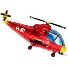 Вертолёт красный
